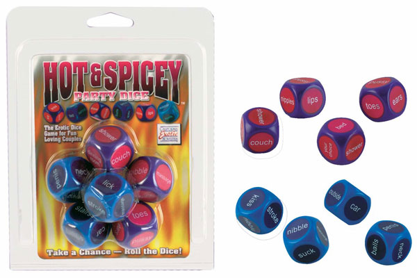 Hot & Spicey Party Dice Erotic Dice Game